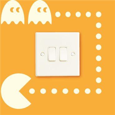 Sticker Jeu Pacman - stickers interrupteur & stickers muraux - fanastick.com