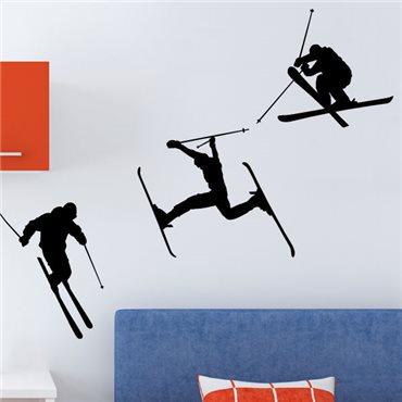 Sticker série de skieurs - stickers chambre garçon & stickers enfant - fanastick.com