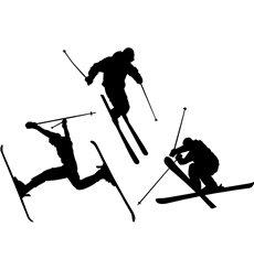 Sticker série de skieurs