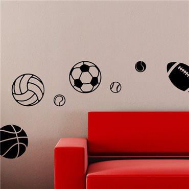 Sticker sports de ballons - stickers chambre garçon & stickers enfant - fanastick.com