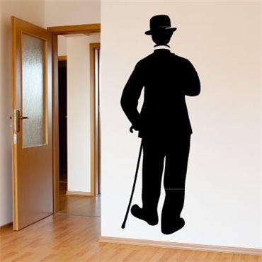 Sticker Charlie Chaplin dans Les temps modernes - stickers personnages & stickers muraux - fanastick.com