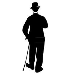 Sticker Charlie Chaplin dans Les temps modernes