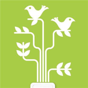 Sticker Arbre avec des oiseaux - stickers arbre & stickers muraux - fanastick.com