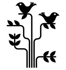 Sticker Arbre avec des oiseaux