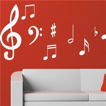 Sticker note de musique - stickers musique & stickers muraux - fanastick.com