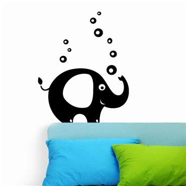 Sticker Eléphant et bulles - stickers animaux enfant & stickers enfant - fanastick.com