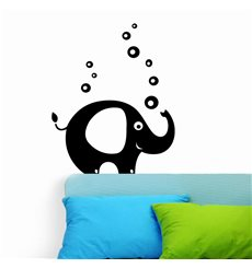 Sticker Eléphant et bulles