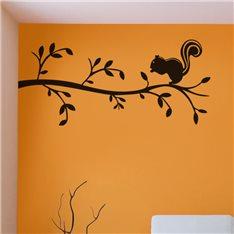 Sticker Écureuil sur une branche