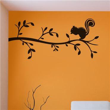 Sticker Écureuil sur une branche - stickers arbre & stickers muraux - fanastick.com