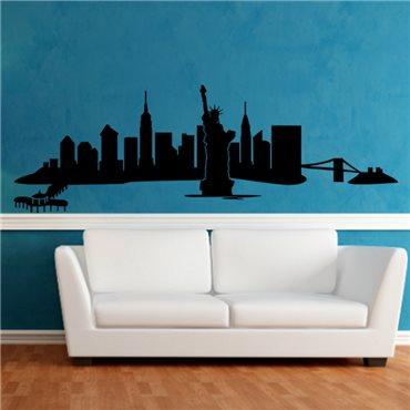 Sticker New-York vue panoramique - stickers new york & stickers muraux - fanastick.com