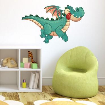 Sticker Dragon volant - stickers animaux enfant & stickers enfant - fanastick.com