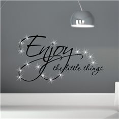 Sticker Enjoy things & 15 Swarovski crystal 3mm