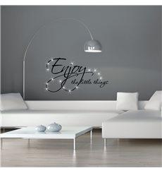 Sticker Enjoy things & 15 Swarovski crystal 3mm