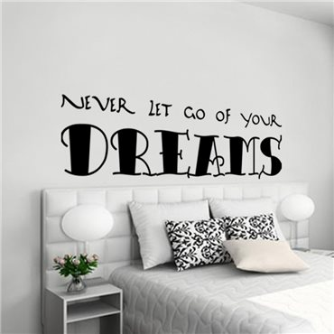 Sticker Your dreams - stickers citations & stickers muraux - fanastick.com