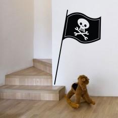 Sticker Drapeau pirate