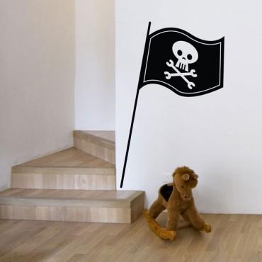 Sticker Drapeau pirate - stickers pirates & stickers enfant - fanastick.com