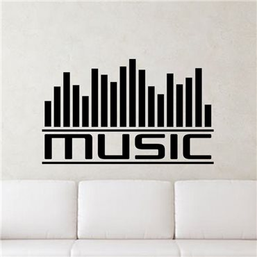 Sticker Graphe music - stickers musique & stickers muraux - fanastick.com