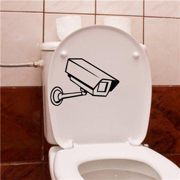 Sticker Caméra de surveillance - stickers wc & stickers toilette - fanastick.com