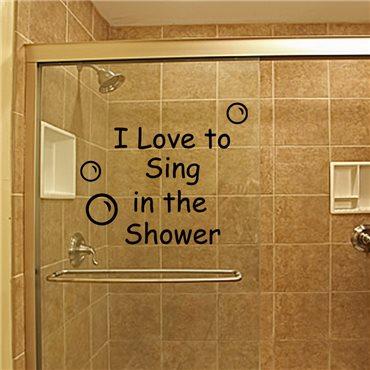 Sticker Sing shower - stickers salle de bain & stickers muraux - fanastick.com