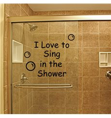 Sticker Sing shower