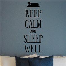 Sticker Keep calm and sleep well