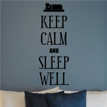 Sticker Keep calm and sleep well - stickers chambre & stickers muraux - fanastick.com