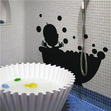 Sticker Baignade de bébé - stickers salle de bain & stickers muraux - fanastick.com