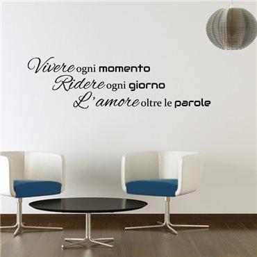 Sticker Vivere ogni momento - stickers citations & stickers muraux - fanastick.com