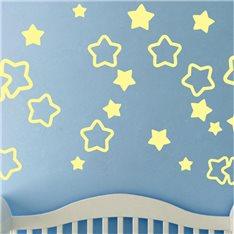 Sticker 30 pièces ensemble d'étoiles