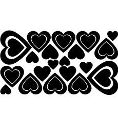 Sticker 30 cœurs 2