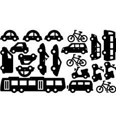 Sticker 20 véhicules de transport