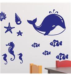 Sticker 20 créatures de la mer