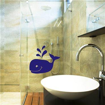 Sticker baleine - stickers salle de bain & stickers muraux - fanastick.com