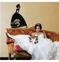Sticker Silhouette mariée élégante