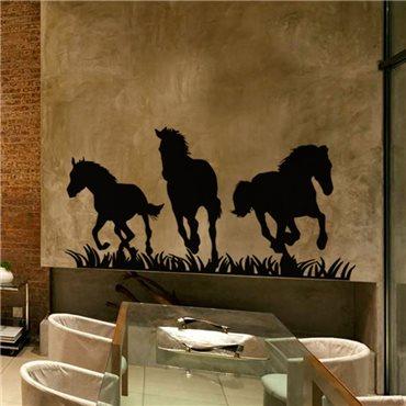 Sticker Chevaux dans une prairie - stickers cheval & stickers muraux - fanastick.com