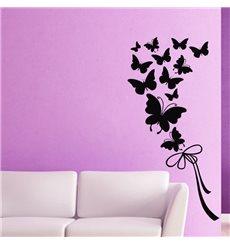 Sticker Papillons et ruban
