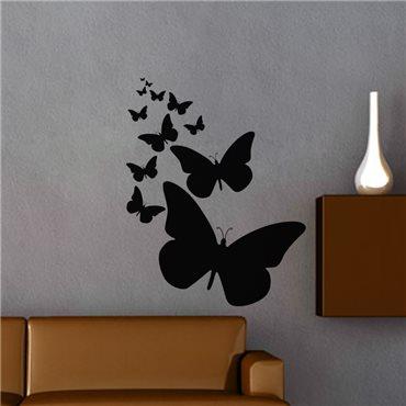 Sticker Lignée de papillons - stickers papillon & stickers muraux - fanastick.com