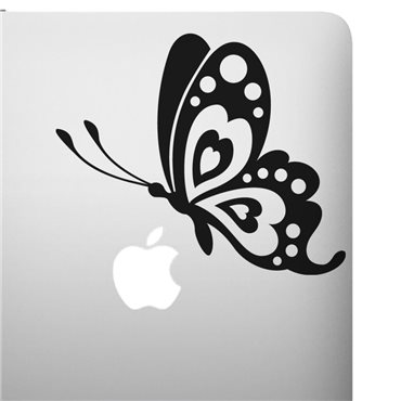 Sticker Profil papillon - stickers ordinateur portable & stickers muraux - fanastick.com