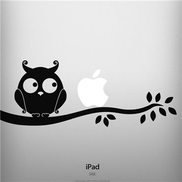 Sticker Silhouette hibou - stickers ordinateur portable & stickers muraux - fanastick.com