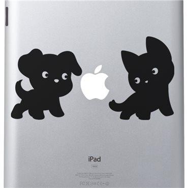 Sticker Chiot et chaton - stickers ordinateur portable & stickers muraux - fanastick.com