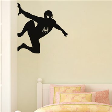 Sticker Silhouette Spiderman - stickers chambre garçon & stickers enfant - fanastick.com