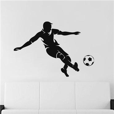 Sticker Footballeur en action - stickers foot & stickers muraux - fanastick.com