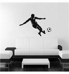 Sticker Footballeur en action