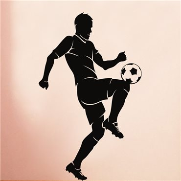 Sticker Footballeur jonglant - stickers foot & stickers muraux - fanastick.com