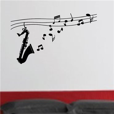 Sticker Design saxophone - stickers musique & stickers muraux - fanastick.com