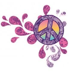 Sticker Peace and love design