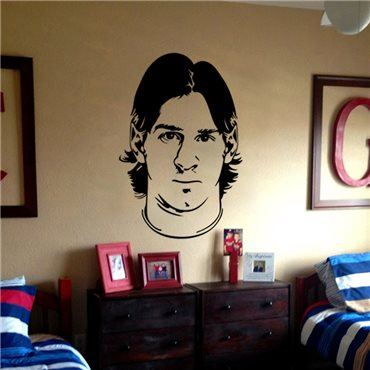 Sticker Portrait Lionel Messi - stickers foot & stickers muraux - fanastick.com