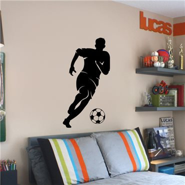 Sticker Footballeur avec un ballon - stickers foot & stickers muraux - fanastick.com