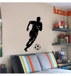 Sticker Footballeur avec un ballon