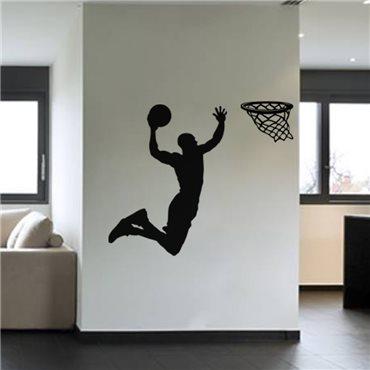 Sticker Basketteur avant un dunk - stickers chambre garçon & stickers enfant - fanastick.com
